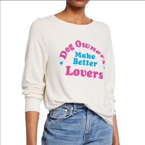 "NWT Wildfox ""Dog Owners Make Better Lovers"" Top"